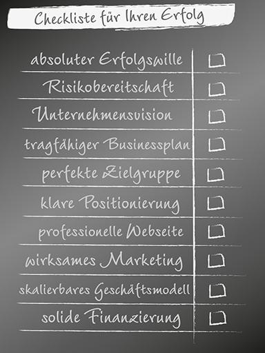 Checkliste für Ihren Erfolg