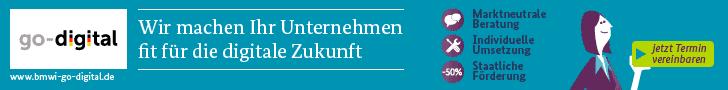 go-digital - Jetzt Termin für Erstberatung vereinbaren! - Banner